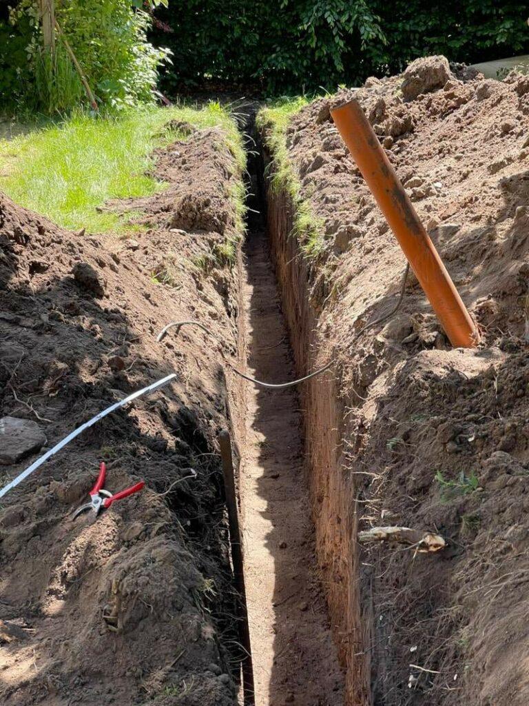 Erdarbeiten Wasserverlegung