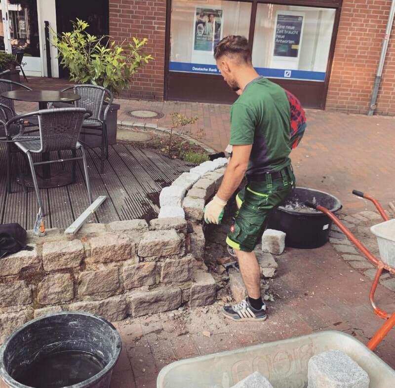 Steinmauer Sanierung